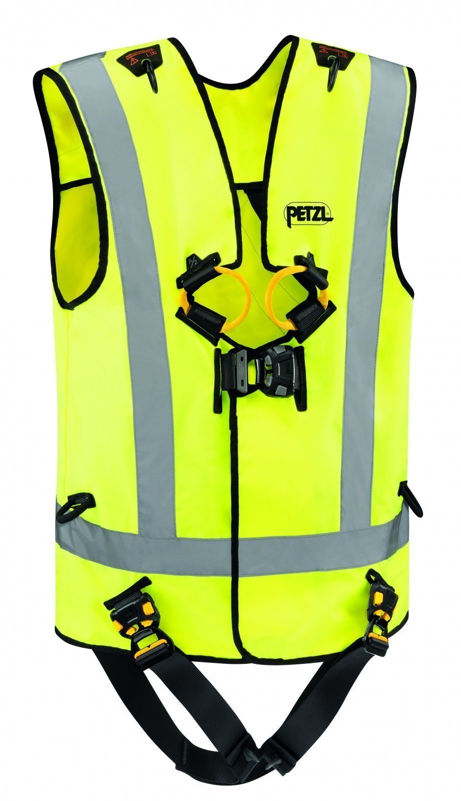 Petzl NEWTON EASYFIT HI-VIZ Fall Arrest Harness With High-Visibility Vest, ANSI & CSA