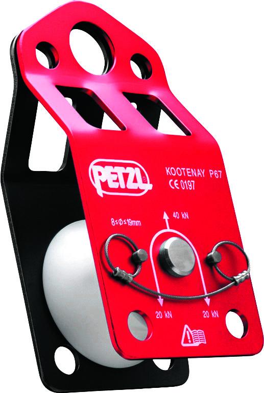 "Petzl KOOTENAY Pulley - Rope Capacity: 3/8"" - 5/8"""