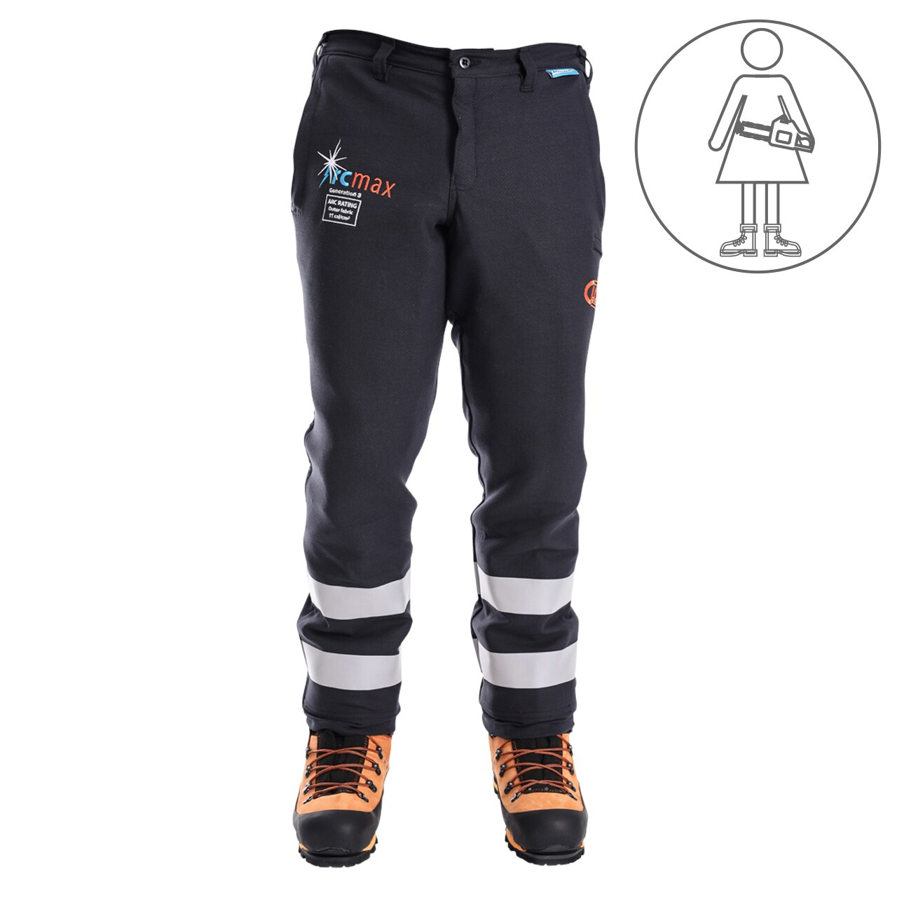 Clogger Arcmax Gen3 Arc Rated Fire Resistant Women's Chainsaw Pants (Now With Stretch)