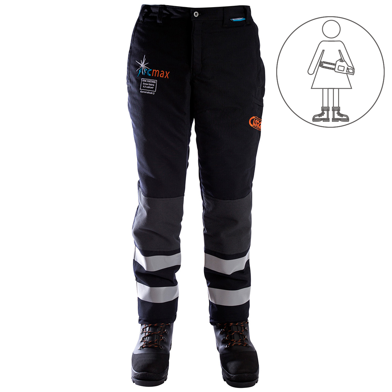 Clogger Arcmax Premium Arc Rated Fire Resistant Women's Chainsaw Pants