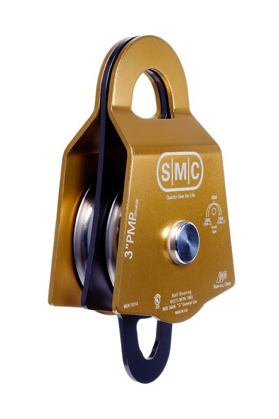 "SMC 3"" Double Aluminum Prusik Minding Pulley ""PMP"""