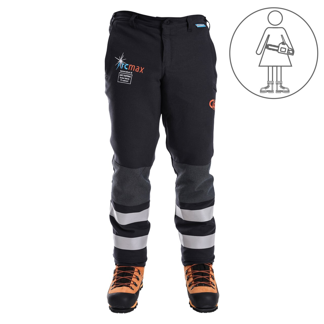 Clogger Arcmax Gen3 Arc Rated Fire Resistant Women's Premium 360 Wrap Chainsaw Pants (Now With Stretch)