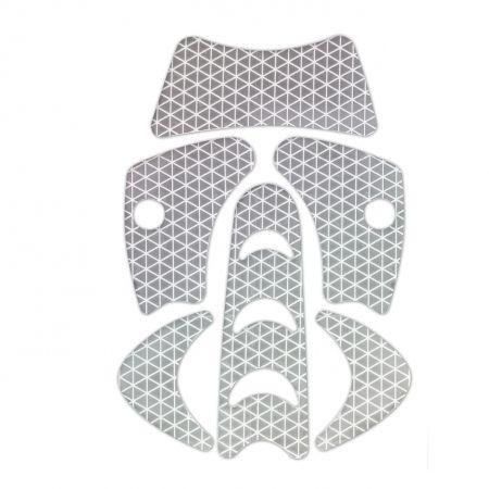 KASK SILVER REFLECTIVE STICKERS SET